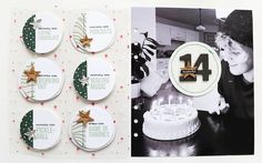 Ali Edwards Design Inc.   Blog: December Daily® 2020   Story Fourteen Brother Sewing Machines, Ali Edwards, Daily Page, Daily Word, 14th Birthday, Circle Punch, December Daily, Pattern Paper, Daily Inspiration
