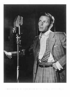 Frank Sinatra (with microphone) William Gottlieb 6157   Paper: 24 x 18  Retail $22.00