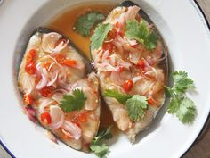 My #Thai: Sweet and Sour Steamed Fish. #recipe #dinnerideas - we made it in the oven and it turned out great