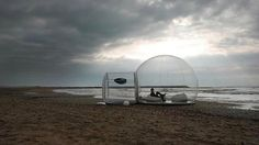 The Bubble Hut by the french company BubbleTree.  Yes please!