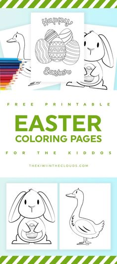 Easter coloring pages for kids   free printables   kids activities