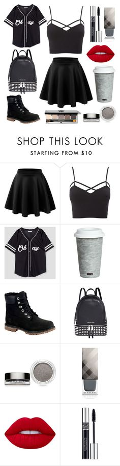 """""""Untitled #4"""" by lov3lyfashion ❤ liked on Polyvore featuring LE3NO, Charlotte Russe, Fitz & Floyd, Timberland, Michael Kors, Clarins, Burberry, Bobbi Brown Cosmetics, Lime Crime and Christian Dior"""