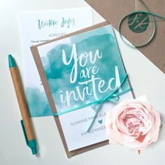 """Die Serie """"Pastel Aquarelle"""" sieht in jeder Farbe immer wieder anders und neu aus! ❤️ In diesem Mintgrün gefällt mir die Einladung auch besonders gut! Dazu ein Einlegeblatt mit weiteren Infos und Aufkleber vom Monogramm als Siegel für den Briefumschlag.⠀⠀⠀⠀⠀⠀⠀⠀⠀ ⠀⠀⠀⠀⠀⠀⠀⠀⠀ #hochzeitskarten #hochzeitspapeterie #hochzeitseinladung #braut2018 #instabräute #hochzeitskartendesign #aquarell #einleger #hochzeitssiegel #monogramm #wasserfarben #hochzeit2018 #mintgrün Dark Colors, Shades Of Green, Dream Wedding, Watercolor, Wedding Ideas, Dreams, Weddings, Shop, Products"""