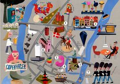 """Map of Copenhagen"" Jens Magnusson Illustrator: Illustration Portfolio"