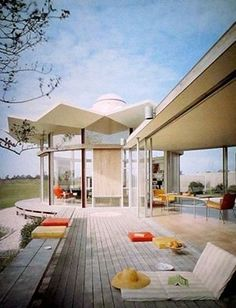 Alexander Knox, the Knox House built in Bridgehampton, NY, 1959.