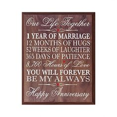 Personalized Wedding Anniversary Wall Plaque Gifts for Couple, Custom Anniversary Gifts for Her, 12 Inches Wide X 15 Inches High Wall Plaque By LifeSong Milestones (Grand Walnut) 1st Wedding Anniversary Gift For Him, Anniversary Gifts For Couples, Anniversary Ideas, Husband Anniversary, Silver Anniversary, Happy Anniversary, Anniversary Cards, Hugs, Couple Gifts