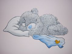 Wandschildering slapende Me To You Bear