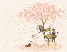 내 마음 속엔 작은 의자 하나 있어.. 이렇게 설레이는 봄이 오면 작고 예쁜 꽃들을 피우지요. 달콤한 향기에 이끌려 다가와 의자에 앉아줄 누군가를 기다리면서요......