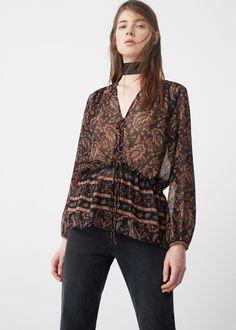 Blusa stampa paisley - Camicie da Donna | MANGO Italia