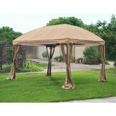 Carlota 13 Ft. W x 10 Ft. D Aluminum and Steel Gazebo