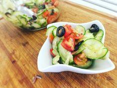 Videorecept: Taliansky uhorkový šalát Cucumber, Zucchini, Salads, Vegetables, Food, Essen, Vegetable Recipes, Meals, Yemek