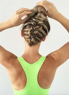 Stylish Sporty Hairstyles for Workout If you should be trying to find hairstyles that will Gym Hairstyles Easy, Country Hairstyles, Cute Hairstyles Updos, Braided Hairstyles For School, Athletic Hairstyles, Volleyball Hairstyles, Workout Hairstyles, Hairstyles Videos, Princess Hairstyles