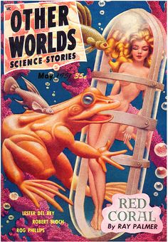Other Worlds (May 1951), cover by Hannes Bok