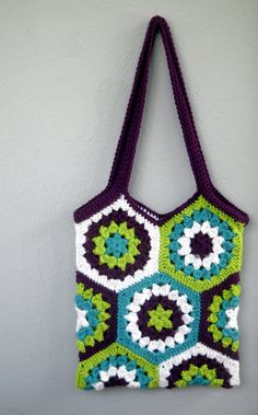 gorgeous marketbag!!  I'm in love with HEXAGONS!!!