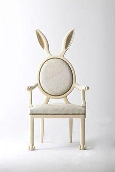 Os coelhinhos invadiram nosso Pinterest! A cadeira é de Merve Kahraman ;-)