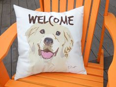 WELCOME ADD-ON to your pillow from this shop hand-painted on nearly any design Crabby Chris