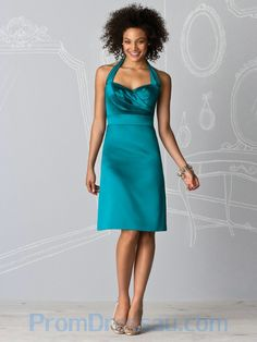 turquoise bridesmaid dresses | ... -Made Sweetheart Halter Knee Length Turquoise Bridesmaid Dress Short