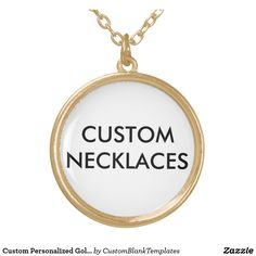 Custom Personalized Gold Finish Necklace Blank