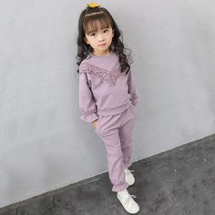 old t shirts and such Toddler Girl Clothes Sets Long Sleeve Tracksuit For Kids Clothes Sport Suits Children Clothing Girls Sets 3 4 5 6 7 8 Years Kids Outfits Girls, Toddler Girl Outfits, Kids Girls, Toddler Girls, Sport Fitness, Exercise For Kids, Mode Hijab, Baby Clothes Shops, Clothes For Kids