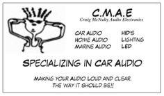 New dj business card logo cmae craig mcnulty audio electronics new cmae business card logo reheart Images