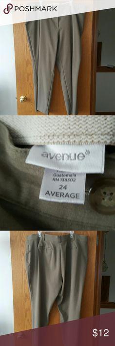 Avenue dress pants Size 24 average length tan work pants from Avenue. Avenue Pants