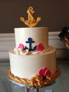 Beautiful Nautical birthday cake!