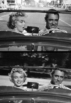 """1952, """"Monkey business"""" (Chérie, je me sens rajeunir) de Howard HAWKS / APPARITIONS de Marilyn dans le film / Quand, à la 11e minute du film, Barnaby doit se rendre chez le grand chef, la secrétaire de celui-ci, Loïs, l'accueille et lui dénude même une de ses jambes, en fait pour lui montrer un prototype de bas sans couture qu'il a mis au point et dont elle est très satisfaite. Par ailleurs Barnaby s'étonne qu'elle soit arrivée si tôt. « Oh yes, Mr. Oxley's been complaining about my…"""