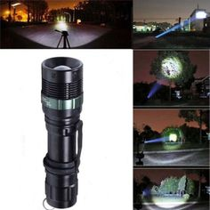 yan_10000Lumen Zoomable Tactical Focusing XML T6 LED Flashlight Torch Camping Lamp #yan_Lumen #Zoomable #Tactical #Focusing #Flashlight #Torch #Camping #Lamp