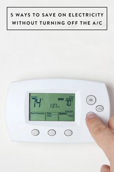 5 Ways to Save on Electricity Without Turning Off the AC via @PureWow