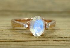 18K Oval Moonstone Gold Ring, Antique Style Ring,Moonstone Engagement Ring, 18K Engagement Ring , Antique Ring , Rose Gold Vintage Ring by Benati on Etsy https://www.etsy.com/listing/462662273/18k-oval-moonstone-gold-ring-antique