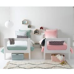 Ideas for shared children's bedrooms - Room Design Boy And Girl Shared Room, Boy Girl Room, Cama Design, Sister Room, Shared Bedrooms, Shared Kids Rooms, Kid Spaces, Kids Decor, Kids Furniture