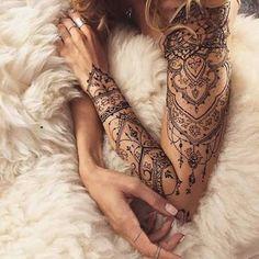 Resultado de imagen para lace sleeve tattoos for women