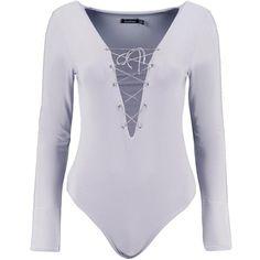 Boohoo Rosie Eyelet Bodysuit | Boohoo ($26) ❤ liked on Polyvore featuring intimates and shapewear