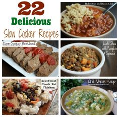 22 Slow Cooker Recipes to Help Make Dinner Stress-Free - One Hundred Dollars a Month Best Crockpot Recipes, Crockpot Dishes, Slow Cooker Recipes, Crockpot Meals, Slow Cooker Meatloaf, Crock Pot Slow Cooker, Crock Pot Cooking, Freeze Ahead Meals, Chili