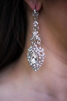 Bride Accessories, White Diamonds, Diamond Earrings, Wedding, Jewelry, Fashion, Ear Rings, Necklaces, Valentines Day Weddings