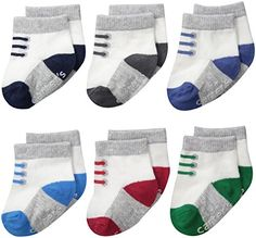 Multi 0-3 Months Carters Boys 3-Pack Sports Socks