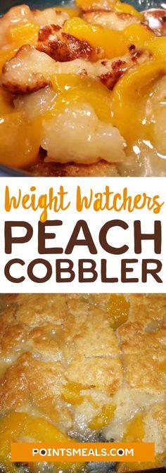 #weight_watchers PEACH COBBLER Diet Desserts, Weight Watchers Desserts, Weight Watcher Dinners, Weight Watchers Smart Points, Diabetic Desserts, Weight Watchers Food List, Easy Desserts, Weight Watchers Brownies, Diabetic Recipes