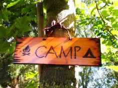 Wooden CAMP Sign for Campsite RV or Kids Room. $44.00, via Etsy.