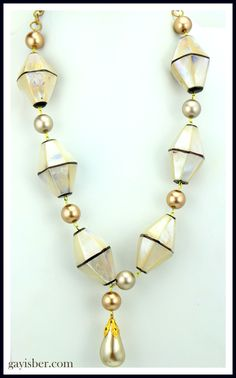 Vintage extra extra large MOP beads with Swarovski pearls!  For the pearl girl!