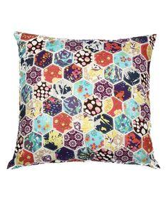 Look at this #zulilyfind! Hexagon Patchwork Throw Pillow #zulilyfinds
