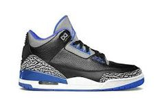 Authentic Air Jordan Retro Sport Blue 3s   For Sale Online Free Shipping http://www.theblueretros.com/