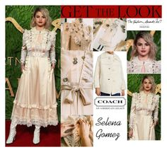 """""""Selena Gomez The Fashion Awards 2017 in London UK"""" by valenlss ❤ liked on Polyvore featuring Coach 1941, Coach and vintage"""