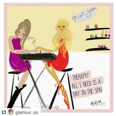 """FASHCOM on Instagram: """"It's true: A good spa day now and then is all a girl really needs! Will you be hitting the salon this weekend? • new comic for @glamoursa  •  • #nails #nailart #fashion #illustration #comic #friends #salón #fashionillustration #fashioncomic #glamour #fashcom"""""""