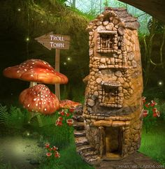 Tiny Troll House by Enchanted Gardens