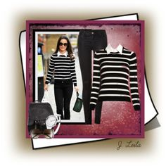 """Stripes"" by jessicaleila on Polyvore"