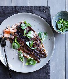 Embla's rainbow trout, horseradish and purslane :: Australian Gourmet Traveller