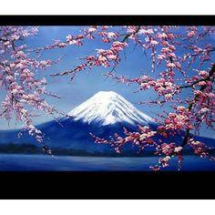 山の周りの花。富士