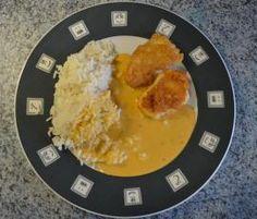 Rezept Variation von Parmesanschnitzel (Emmentalerschnitzel) mit Reis und Paprikarahmsoße von nesschen280382 - Rezept der Kategorie Hauptgerichte mit Fleisch