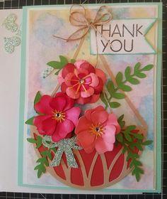 CTMH Flower Market cartridge-Thank you card