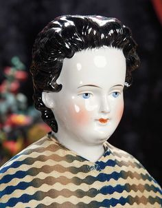 The Lifelong Collection of Berta Leon Hackney: 132 German Porcelain Lady Doll with Elaborately Decorated Chignon